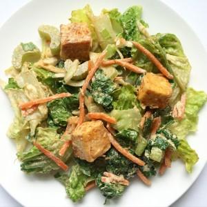 Buffalo Tofu Ranch Salad