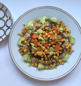 Mexican Brown Rice and Bean Platter