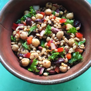 Mediterranean Chickpea and Barley Salad