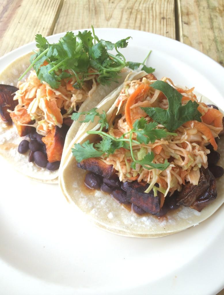 Mad Taco Roasted Yam Tacos