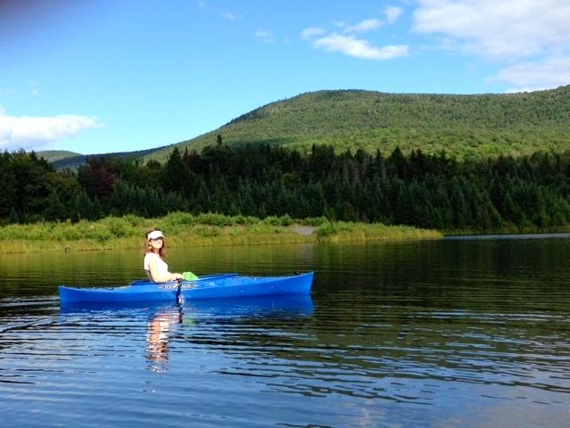 Kayaking on Blueberry Lake