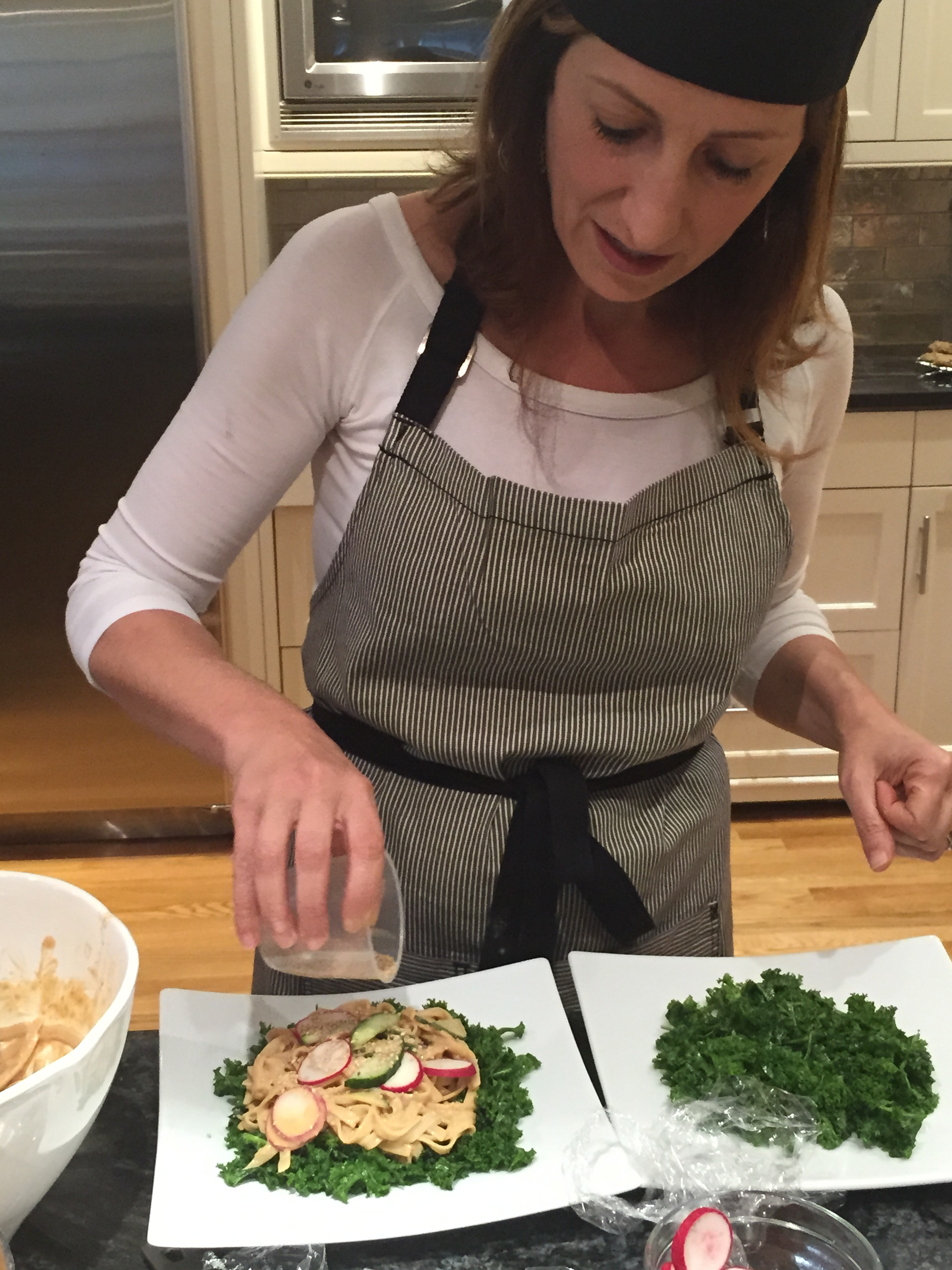 Beantown Kitchen Cooking Class- Preparing Kale, Tofu, Sesame Salad
