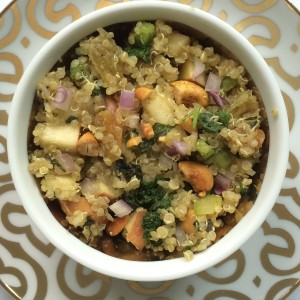 Indian Spiced Kale and Apple Quinoa Salad