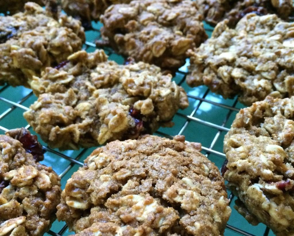 Pumpkin Cranberry Oatmeal Cookies
