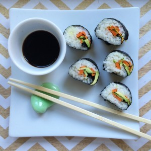 Avocado and Carrot Sushi