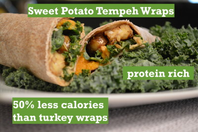 Sweet Potato Tempeh Wraps