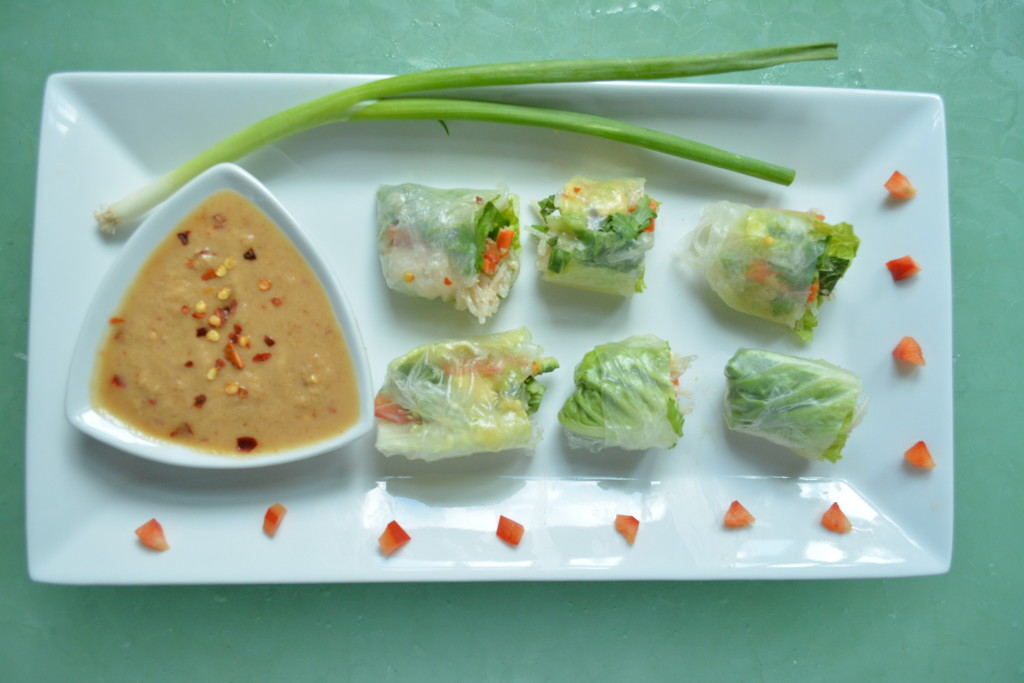 Asian Spring Roll one bite vegan appetizers