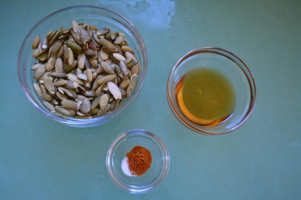 Ingredients for Spiced Pumpkin Seeds