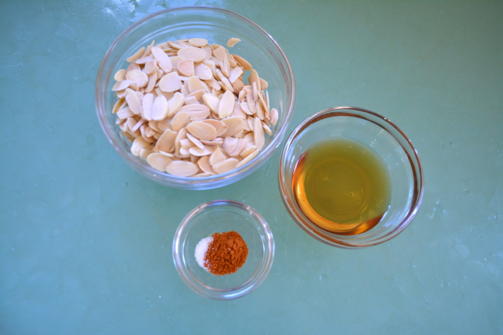 Ingredients for Sweet and Spicy Almonds