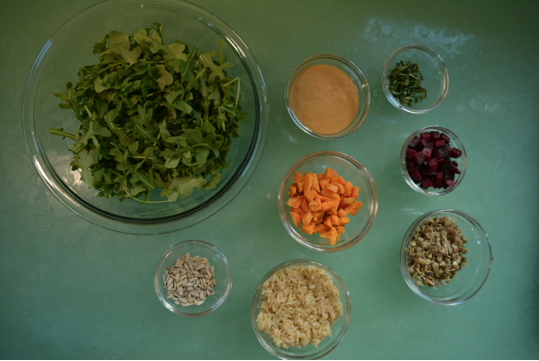 Mise en place Vegan Rainbow Buddha Bowl