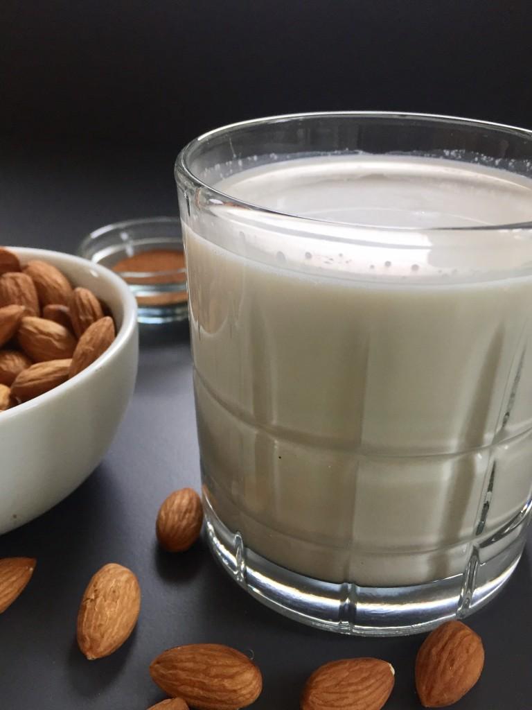Glass of Homemade Almond Milk
