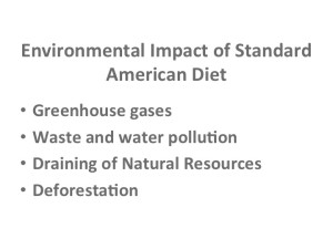 Environmental Impact of the Standard American Diet