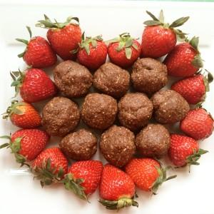 Vegan Raw Chocolate Oat Truffles