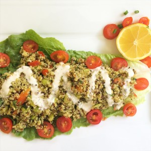 Vegan Quinoa Edamame Lemon Grass Salad