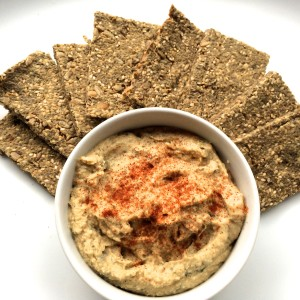 Quinoa Crackers and Hummus