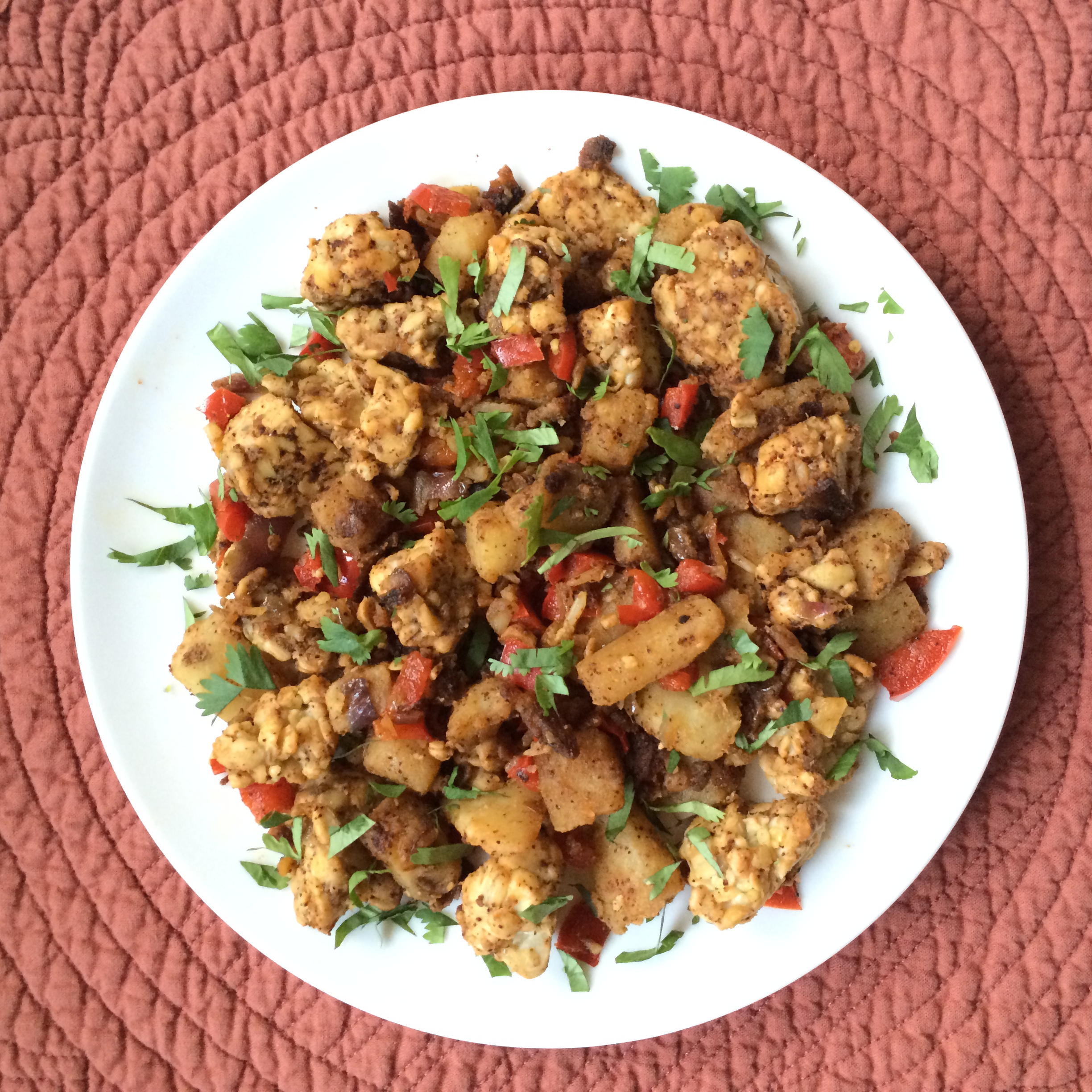 Tempeh and Potato Stir Fry