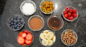 Toppings for Vegan Oatmeal Bowl