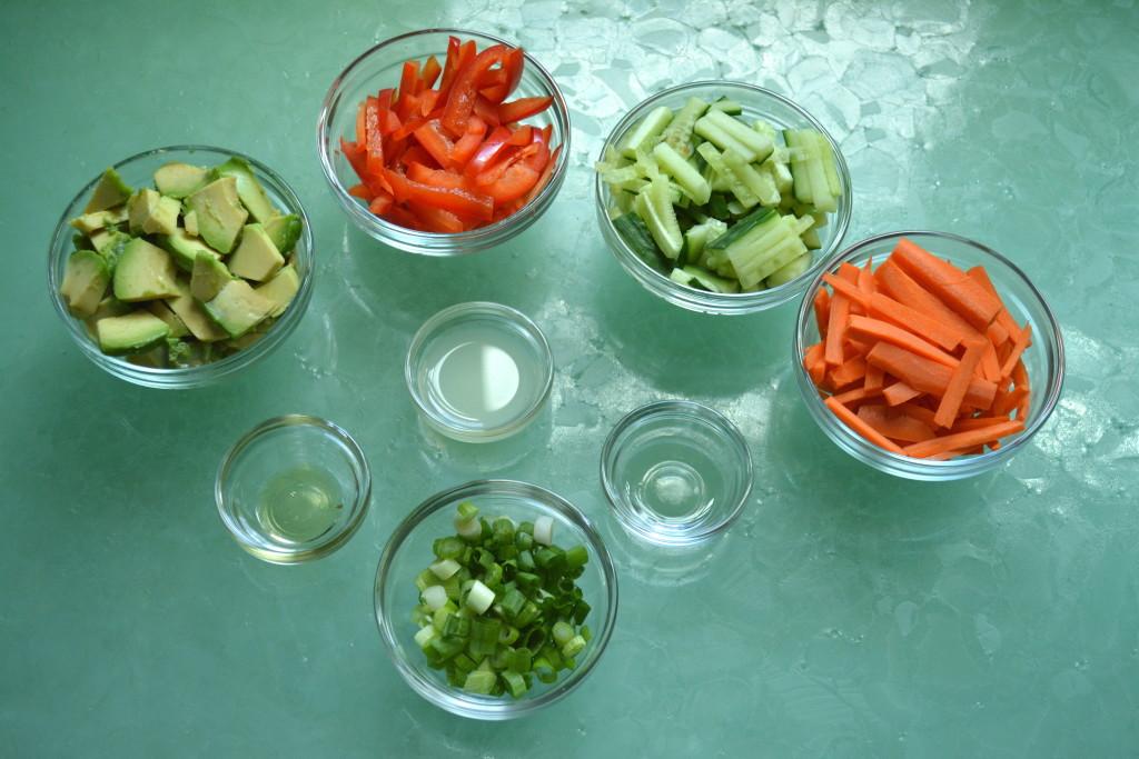 Vegetable Filling for vegan Spring Rolls