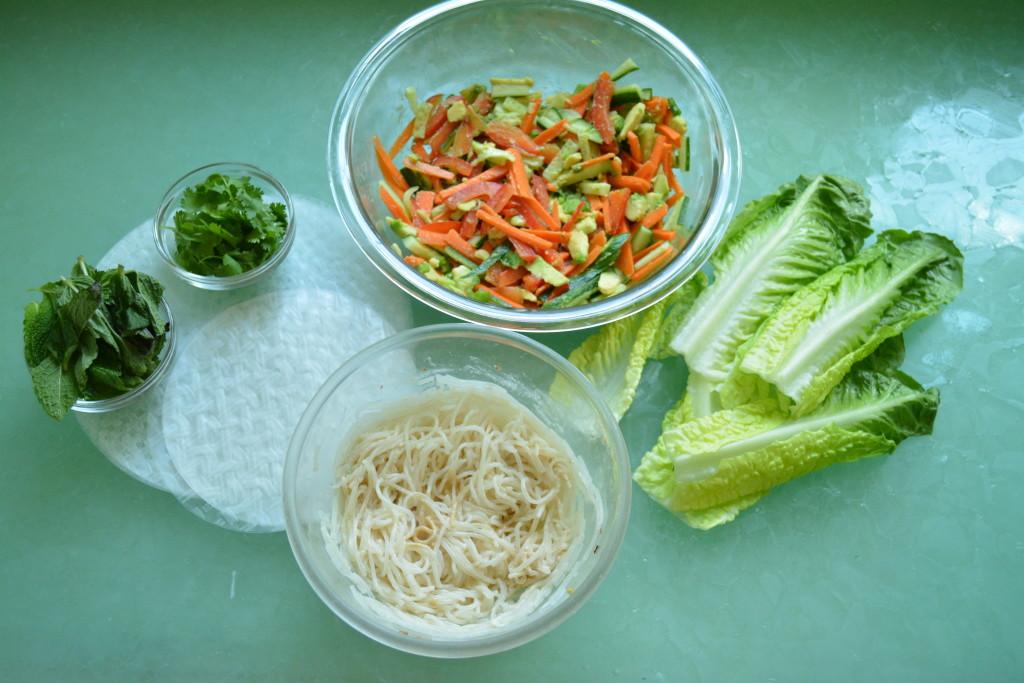 vegan Asian Spring Roll ingredients