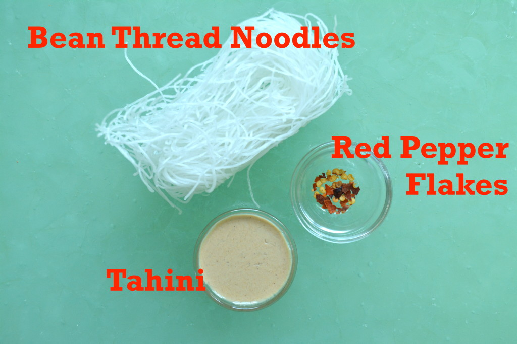 Bean Noodle Ingredients for spring rolls
