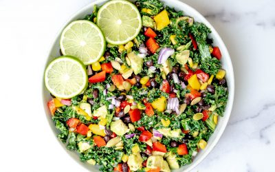 Plant-based Mexican Kale Salad: gluten-free, protein rich and vegan