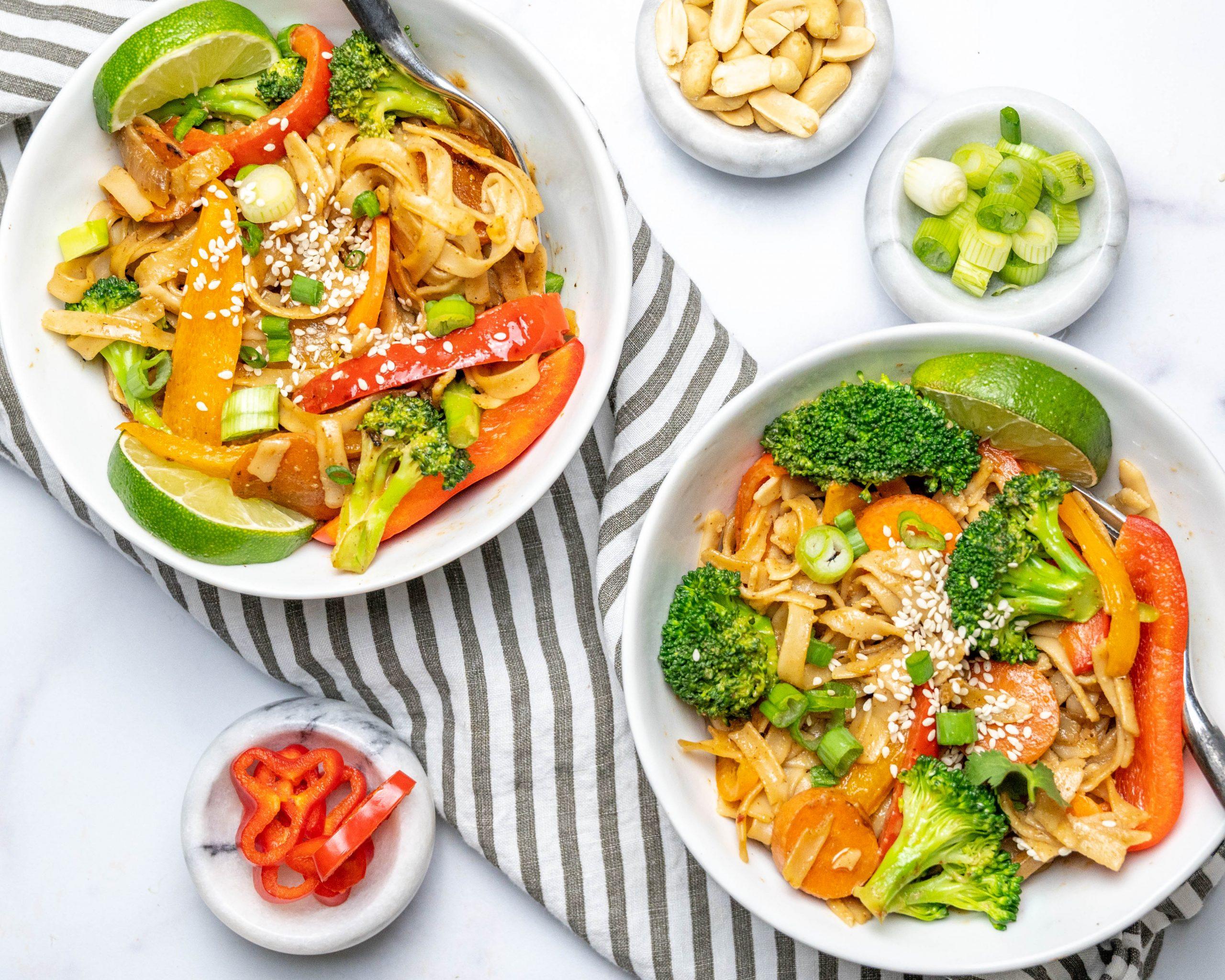 Rainbow Noodle Stir Fry