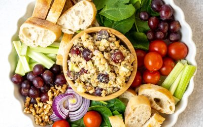 Chickpea Salad with Grapes and Walnuts